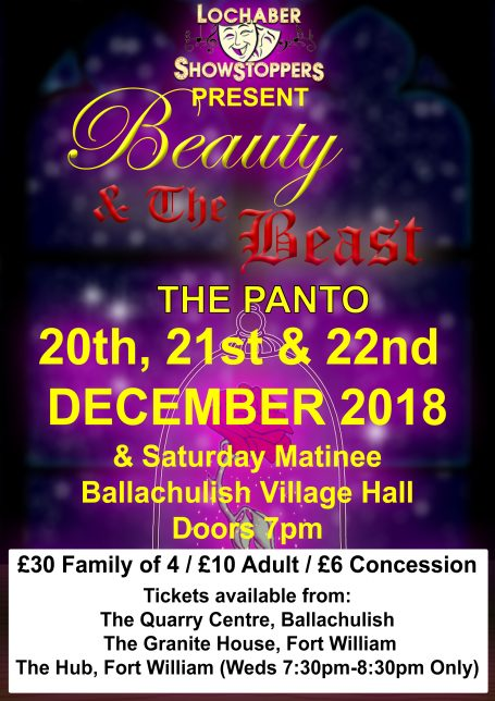 featured image for Beauty & The Beast Panto 2018